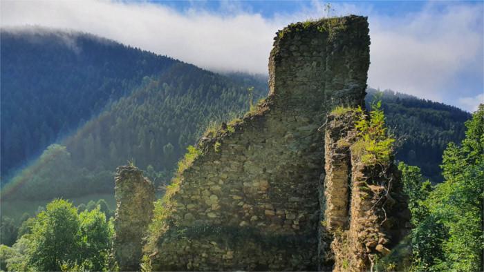 Die Burg Gelnica als Stadtpark mit Panorama-Ausblick