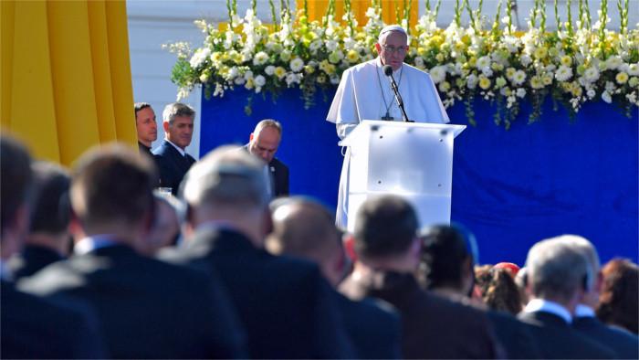 Primeros discursos del Santo Padre en Bratislava