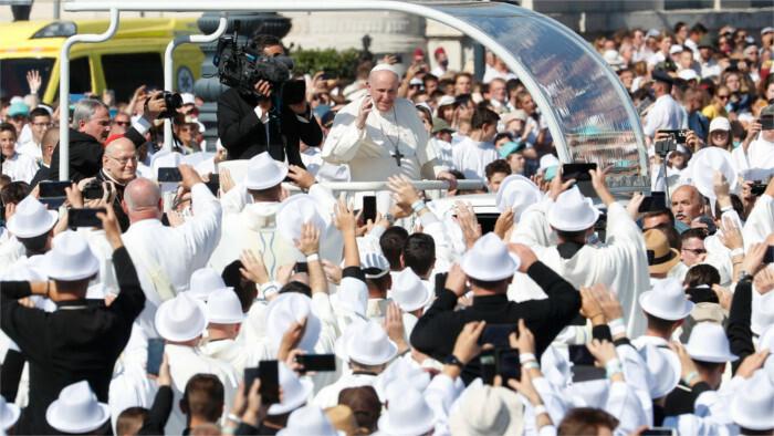 La visite du Pape François