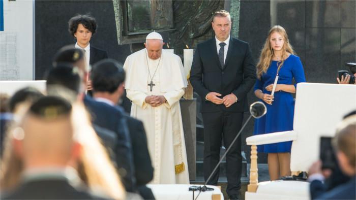 Papst Franziskus erinnert an dunkles Kapitel der slowakischen Geschichte