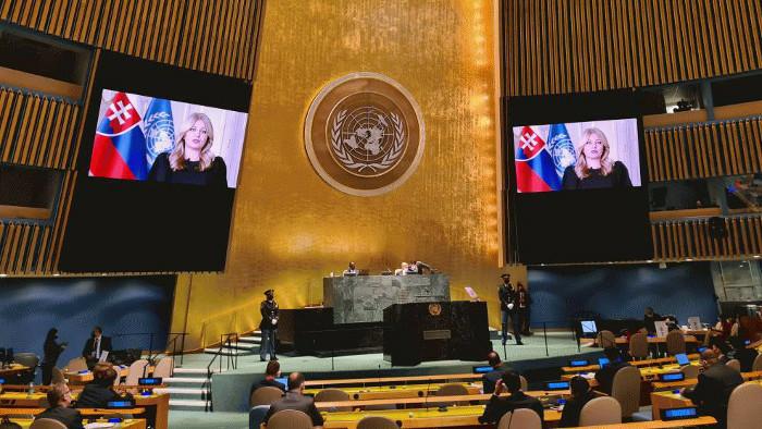 О чем говорила президент Словакии на сессии Генссамблеи ООН?