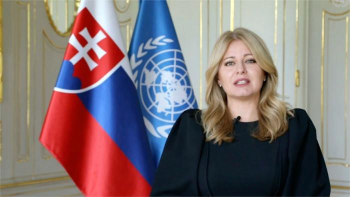 Vystúpenie prezidentky SR Zuzany Čaputovej na VZ OSN