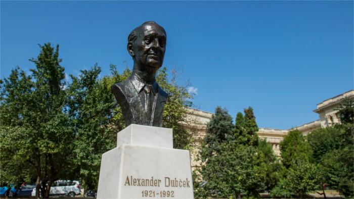 Plaque commémorative d'Alexander Dubček inaugurée en Russie