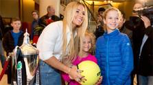 Dominika Cibulková receives hero's welcome