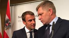 Sommet Austerlitz de Salzburg Aout 2017 KERN-MACRON-FICO-SOBOTKA