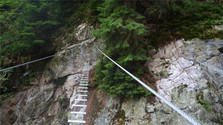 La vía ferrata de Skalka en Kremnické vrchy