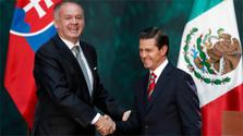 Primera visita oficial de un Jefe de Estado eslovaco a México