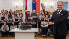 Pyeongchang 2018 : les représentants slovaques devant le Président Kiska