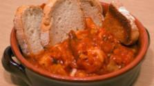 Rybacia polievka s drvenými paradajkami