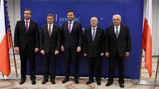 Andrej Danko aux célébrations et à la réunion des présidents des Parlements du V4
