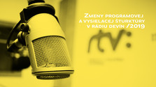 Zmeny vprogramovej avysielacej šturktúre Rádia Devín/ 2019