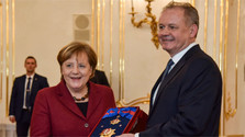 A. Merkel presented with highest Slovak State Award