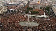 Tüntetés Spanyolország egységéért