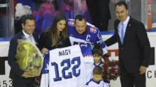 Hokejista Ladislav Nagy a rozlúčka