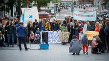 Demonstration für besseren Klimaschutz