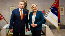 Marine Le Pen asiste hoy a conferencia en Bratislava
