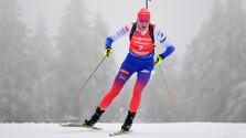 Königin der Biathlon-Spur Anastasiya Kuzmina