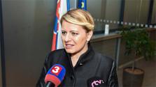 La presidenta eslovaca participa en una tertulia de la televisión checa