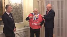 Хоккеист Й. Голонка: подарок  от президента Путина меня тронул до глубины души!