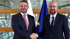 Premier eslovaco sostiene conversaciones con presidente del Consejo Europeo en Bruselas