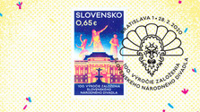 Timbre-poste et pièce commémorative à l'occasion du 100ème anniversaire du Théâtre national slovaque
