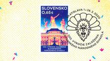 Sonderbriefmarke zum Jahrestag des Slowakischen Nationaltheaters