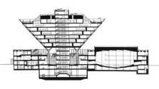 """Der große Konzert- und Sendesaal in der """"umgekehrten Pyramide"""""""