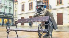 Наполеоновский солдат вернулся на Главную площадь Братиславы