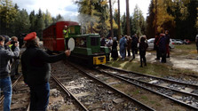 Ferrovía histórica de Považie en el Museo de Pribylina