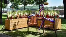 В Братиславе установлена скамейка Вацлава Гавела