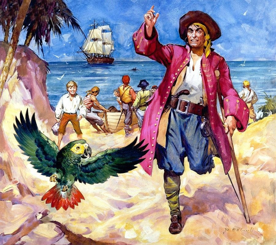 long-john-silver-and-his-parrot-James McConnell.jpg