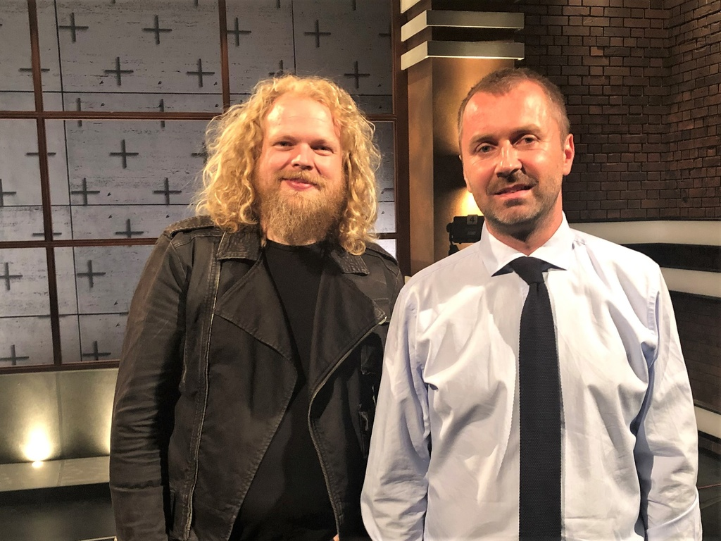 Moderátori Štefan Chrappa a Jaroslav Daniška.jpg
