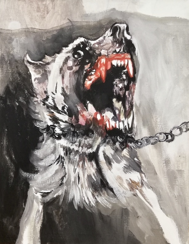 CO3 - Ľubomíra Sekerášová, Orava dog, 70 x 90 cm, akryl na plátne.jpeg