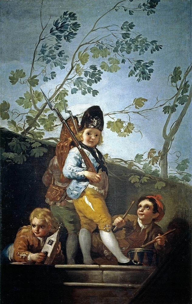 Francisco Goya 800px-Muchachos_jugando_a_soldados mensi.jpg
