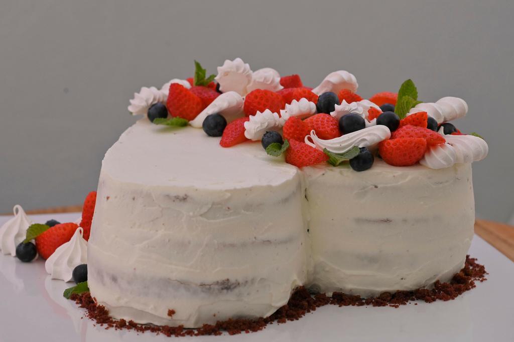 Pusinková Red Velvet torta